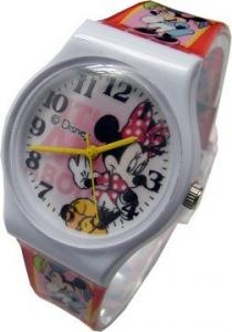 迪士尼 紅色蝴蝶結可愛米妮休閒錶(大)