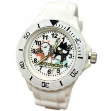 【三麗鷗系?#23567;?#37239;企鵝運動彩帶手錶-白色(網路販售限定款)