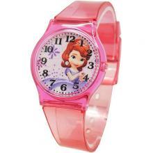 [迪士尼正版授權] 氣質蘇菲亞清透果凍休閒手錶