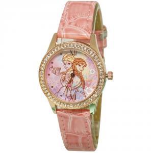 冰雪奇緣姊妹情深水晶鑽精緻腕錶