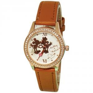 純真年代米奇米妮水晶鑽精緻腕錶