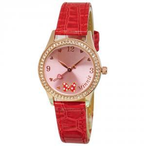 我愛米妮復古蝴蝶結水晶鑽精緻腕錶