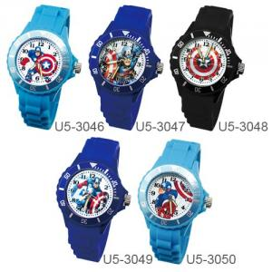 【Marvel漫威系列】美國隊長運動彩帶手錶