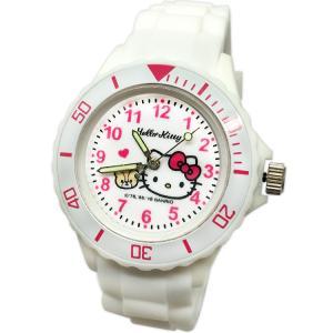 【三麗鷗系列】凱蒂貓Kitty運動彩帶手錶-白色 (網路販售限定款)