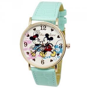 迪士尼薄型玫瑰金錶款-結伴同遊米奇米妮