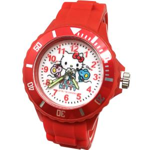 【三麗鷗系列】凱蒂貓Kitty運動彩帶手錶-紅色 (網路販售限定款)
